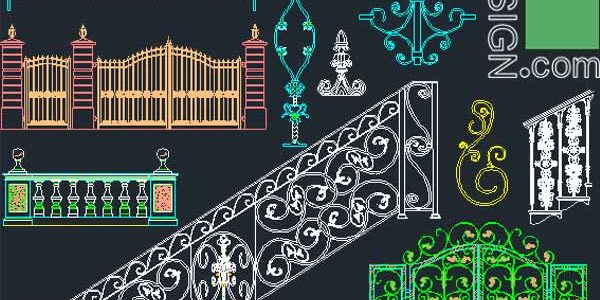 500 Balcony railing, Stair raling and entry gate designs collection