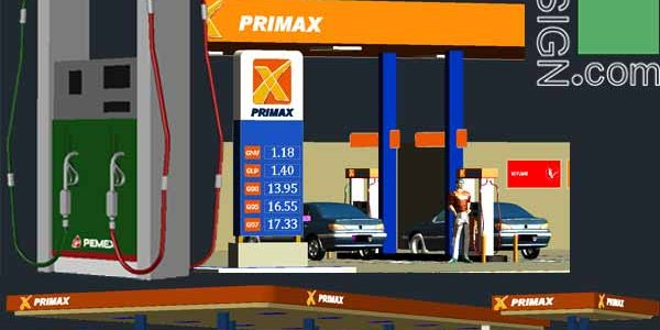3D designs of gas station (Autocad collection)