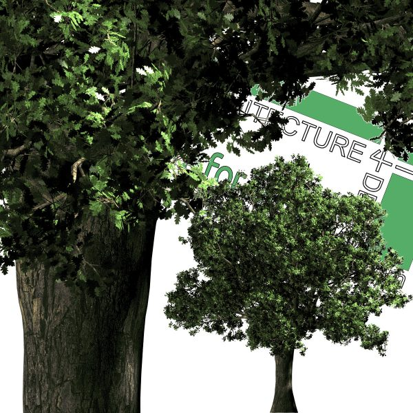large psd cut-out trees