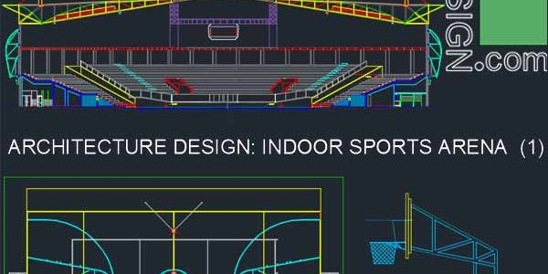 Sport complex : Arena architecture design (Autocad drawings) collection