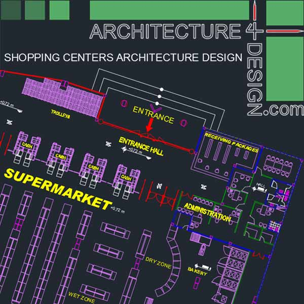 Shopping Malls architecture design (Autocad drawings) Collection:1