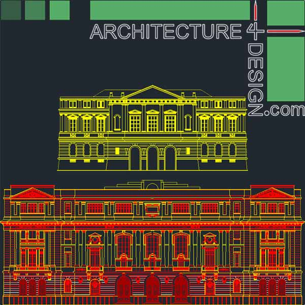 Classic facades designs- collection of AutoCad drawings