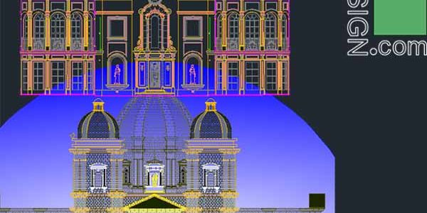 Classical architecture style façades – AutoCad collection 2