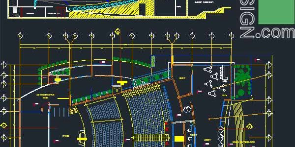 Create stunning auditorium architecture – a collection of 11 auditorium designs (AutoCad drawings)