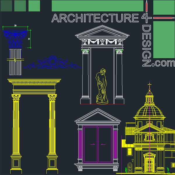 classical architecture facades parts