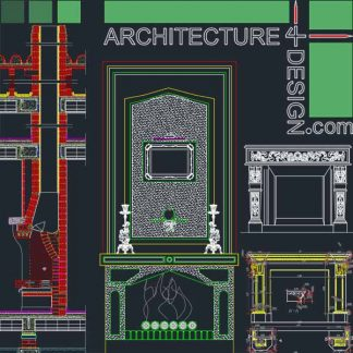 fireplace design samples for Autocad