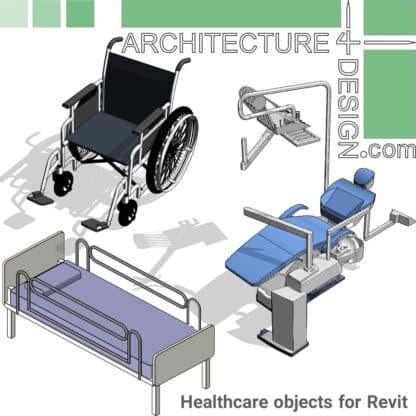 Revit hospital families-furniture and equipment