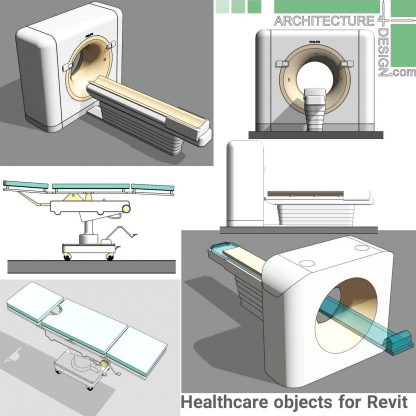 revit Mri and Xray equipment families