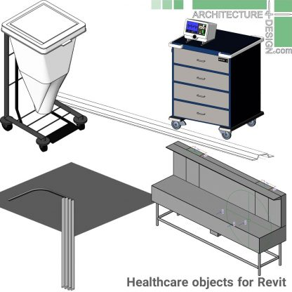 Hospital furniture as Revit objects