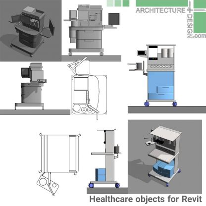 revit treatment room furniture families