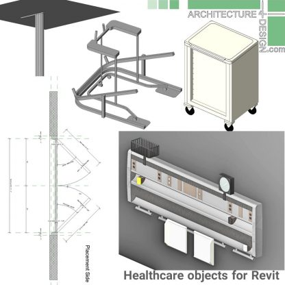 hospital and phisyotraphy furniture families for revit