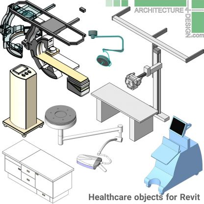 Revit surgery room equipment