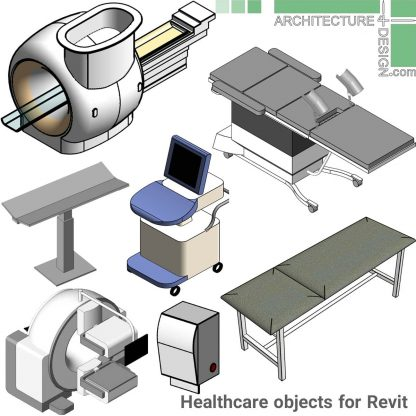 revit MRI and X-ray equipment