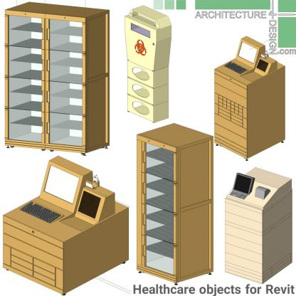 Revit hospital furniture