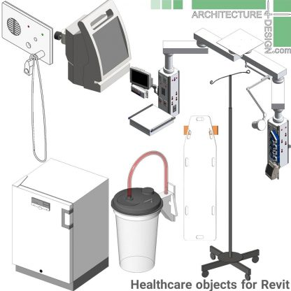 Revit families Dialysis and healthcare centers