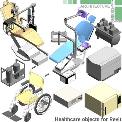 Revit dental office equipment families