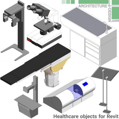 Revit healthcare furniture