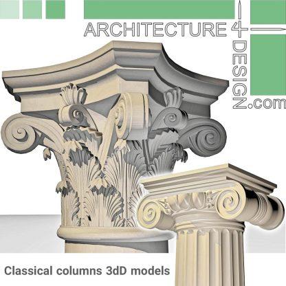 Classical columns 3D models