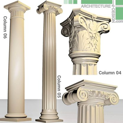 Classical Doric and Ionic 3D models