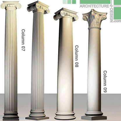 3D model of Roman and Ionic columns