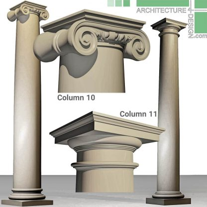 3D model of Doric and Ionic columns