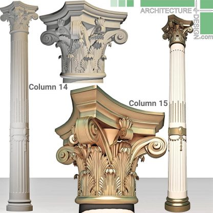 3D model of Corinthian column