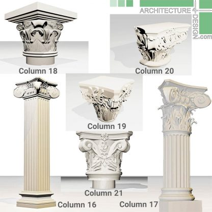 3D model of decorative columns
