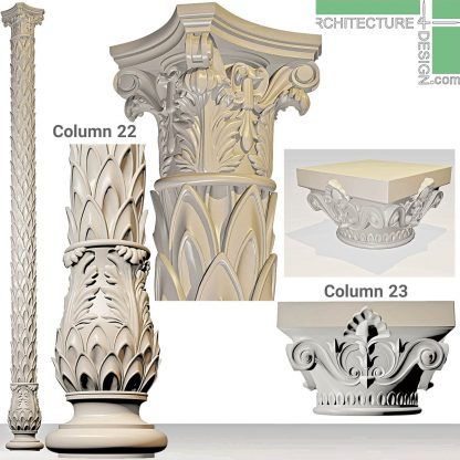 3D models of decorative columns