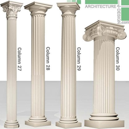 Greek columns 3D model