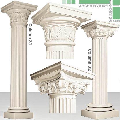 3D model of Roman columns