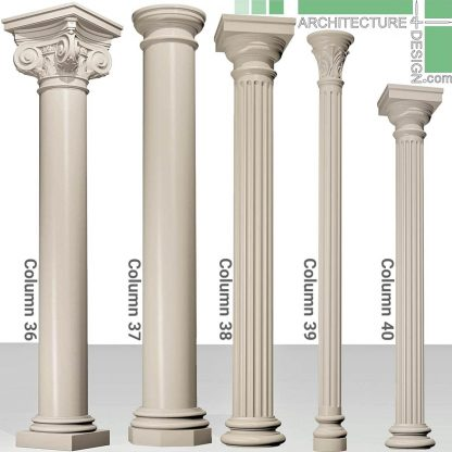 Exterior and interior classical columns