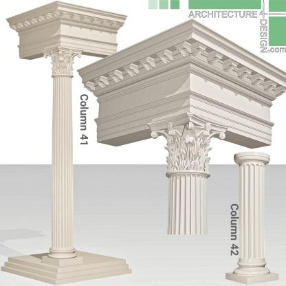 classical pillars 3D model