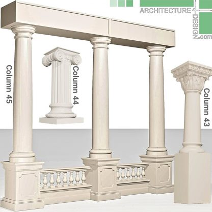 classical and neoclassical 3D pillars
