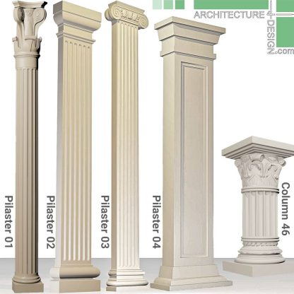 3D classical pilasters