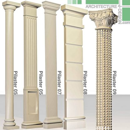 neoclassical 3D pilasters