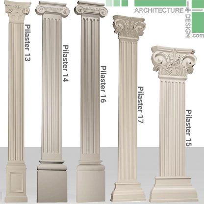Classical pilasters for 3D max