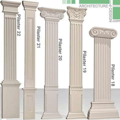 classical pilasters 3d