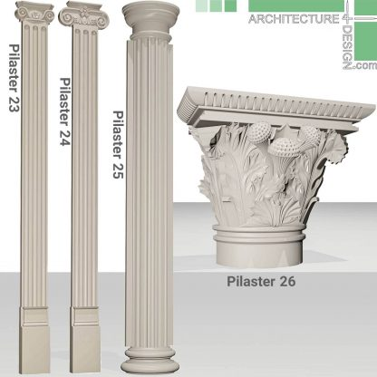 classical columns and pilasters 3D objects