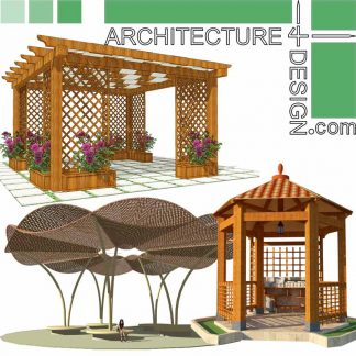 Outdoor sitting and shade models for Sketchup