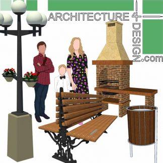 site furnishing SketchUp 3D models