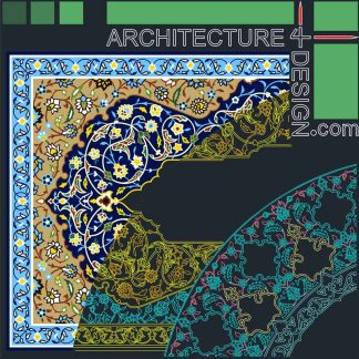 Arabesque patterns DWG
