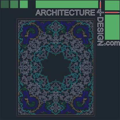 Arabesque frame DWG
