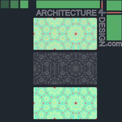 Arabesque pattern DWG