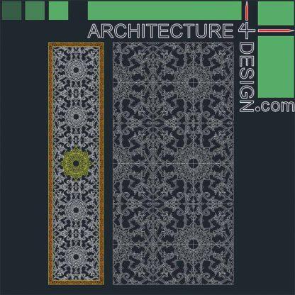 Arabesque tile design
