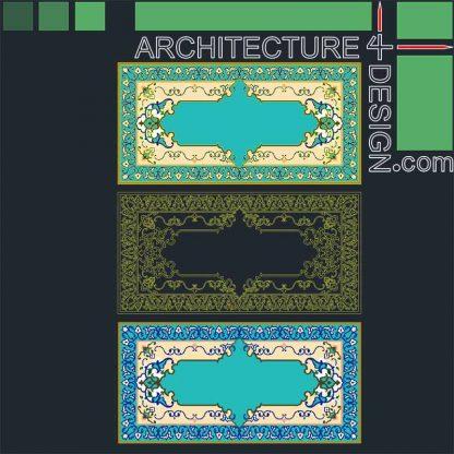 Persian rug patterns DWG
