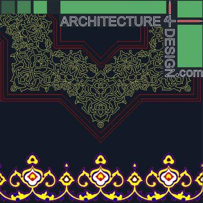 Islamic foliate ornaments and arabesques DWG