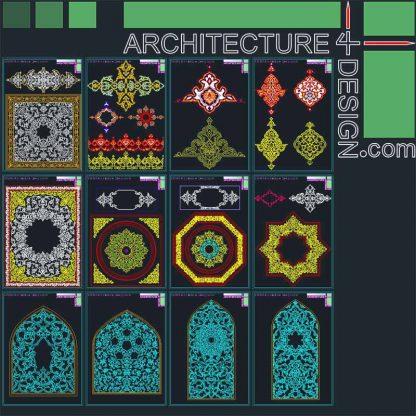 Arabic foliate ornament and arabesque patterns