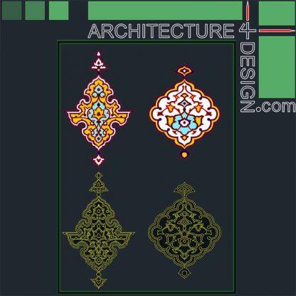 Arabic foliage ornament and Arabesque patterns