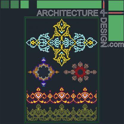 Arabesque patterns DWG
