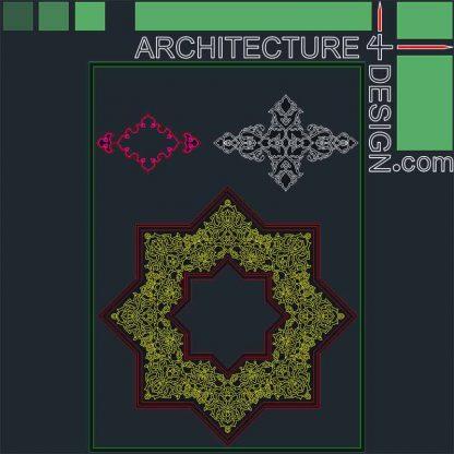 octagonal arabesque DWG